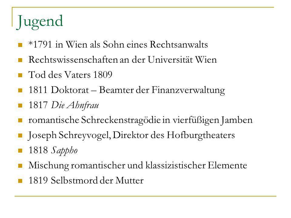 Jugend *1791 in Wien als Sohn eines Rechtsanwalts