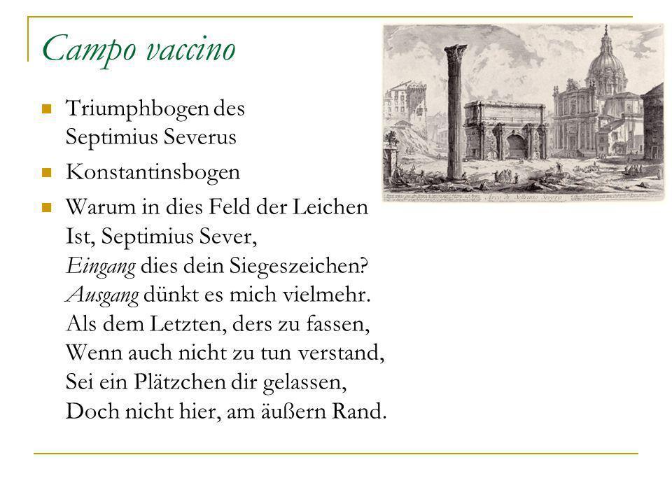 Campo vaccino Triumphbogen des Septimius Severus Konstantinsbogen