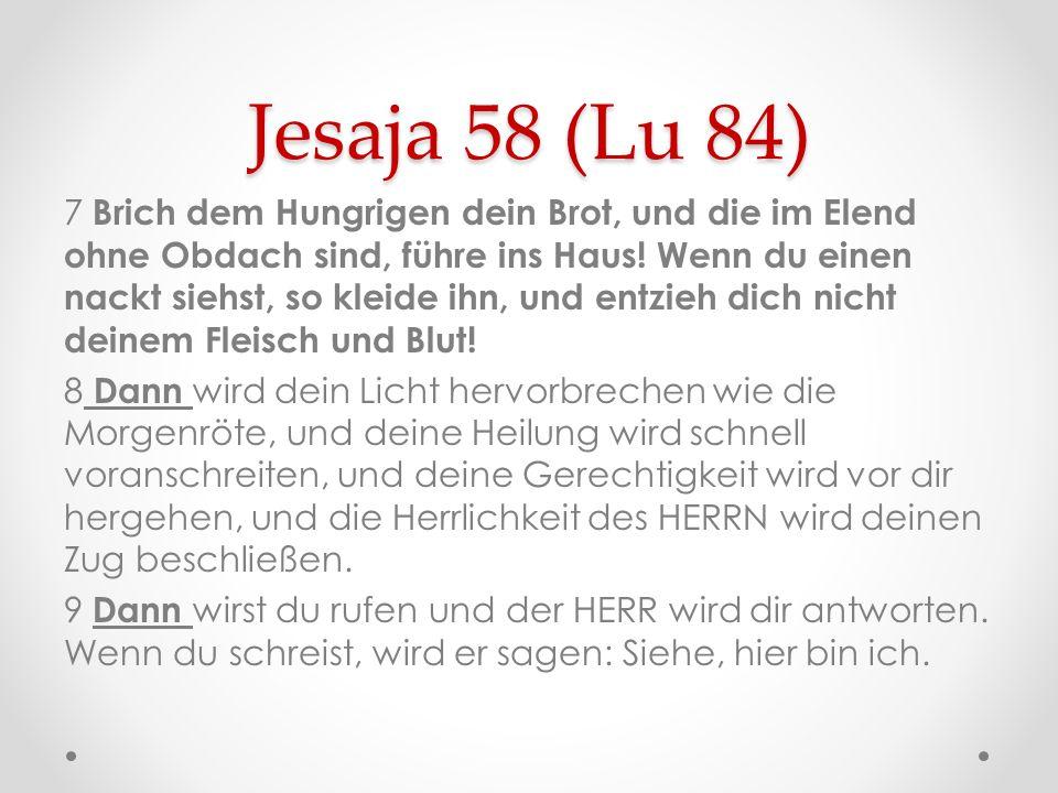 Jesaja 58 (Lu 84)