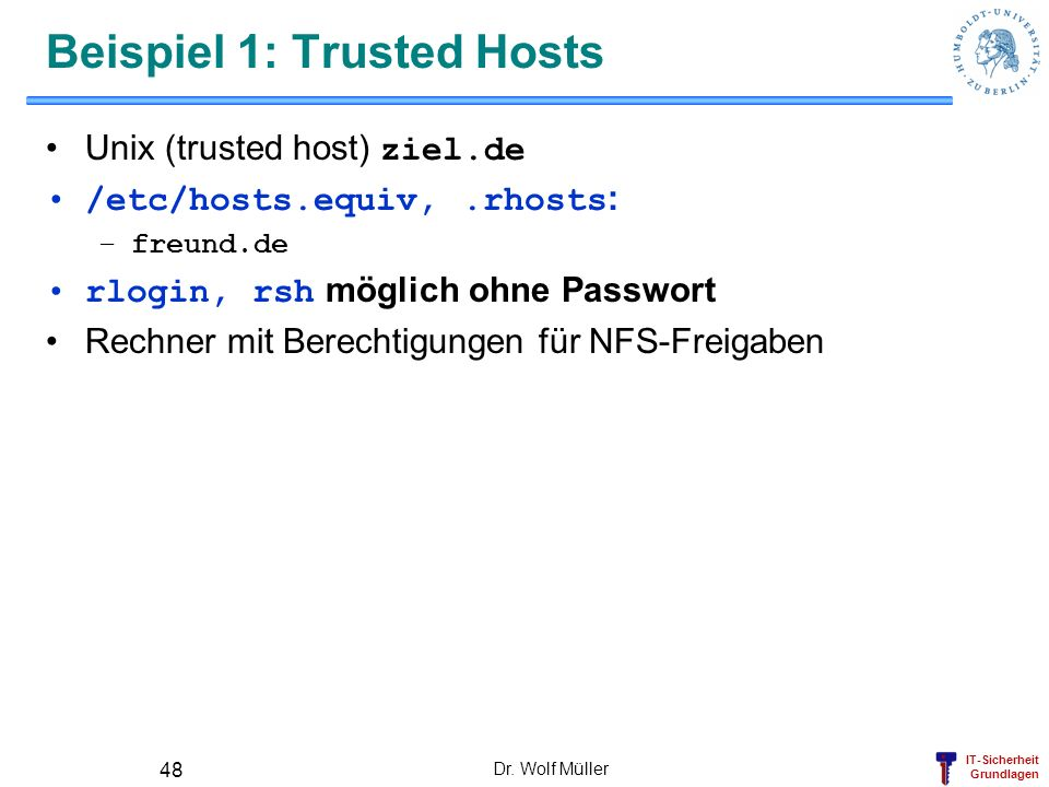 Beispiel 1: Trusted Hosts