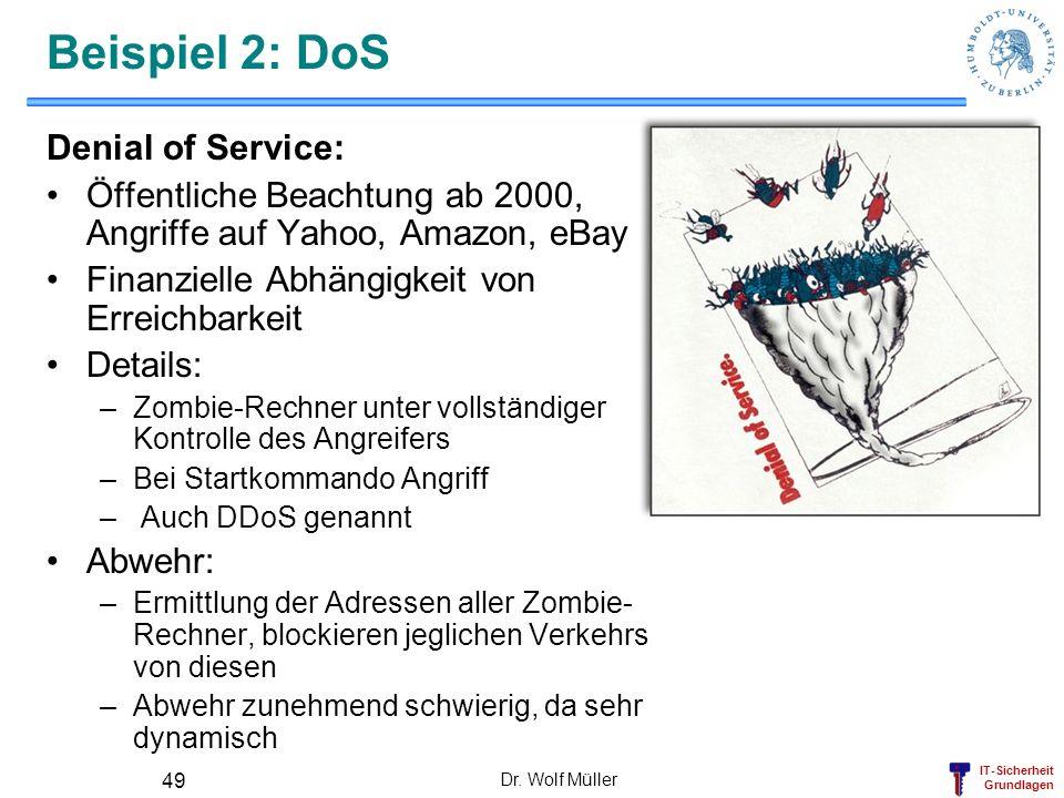 Beispiel 2: DoS Denial of Service: