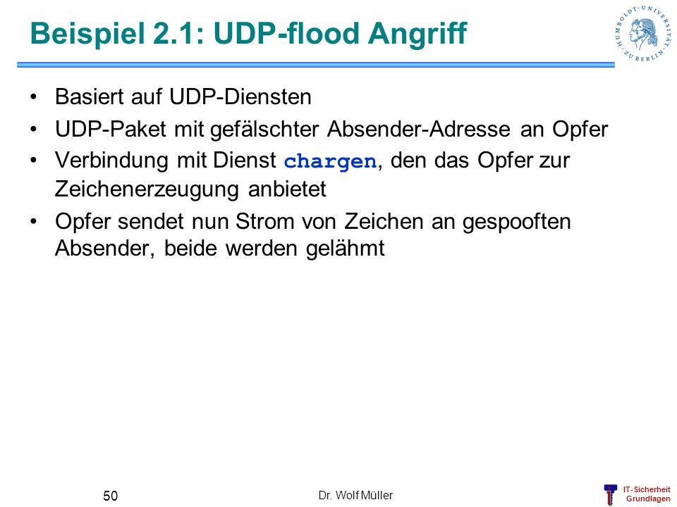 Beispiel 2.1: UDP-flood Angriff