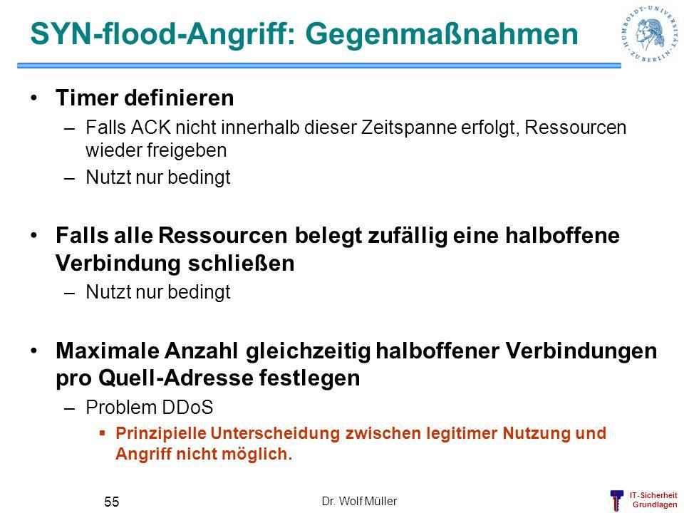 SYN-flood-Angriff: Gegenmaßnahmen