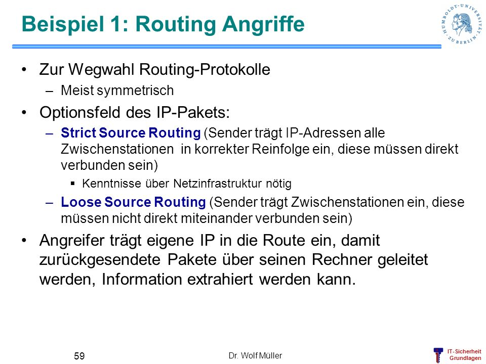 Beispiel 1: Routing Angriffe
