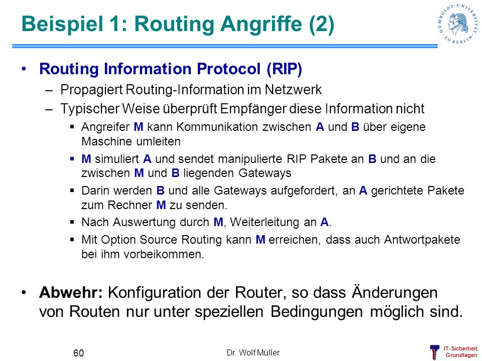 Beispiel 1: Routing Angriffe (2)