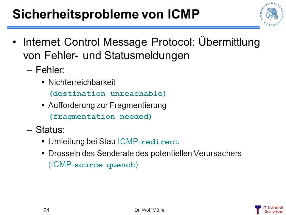 Sicherheitsprobleme von ICMP
