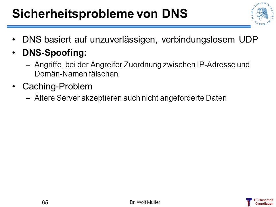 Sicherheitsprobleme von DNS