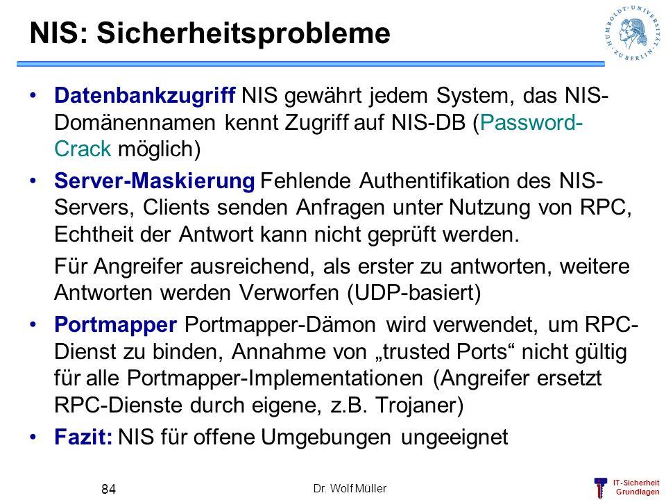 NIS: Sicherheitsprobleme