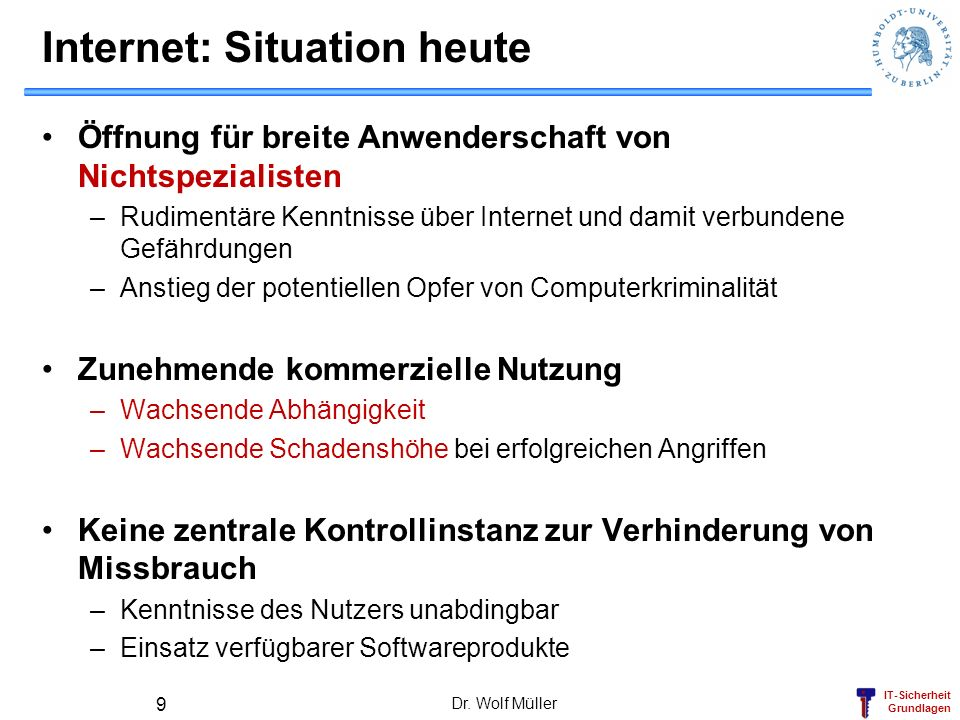 Internet: Situation heute