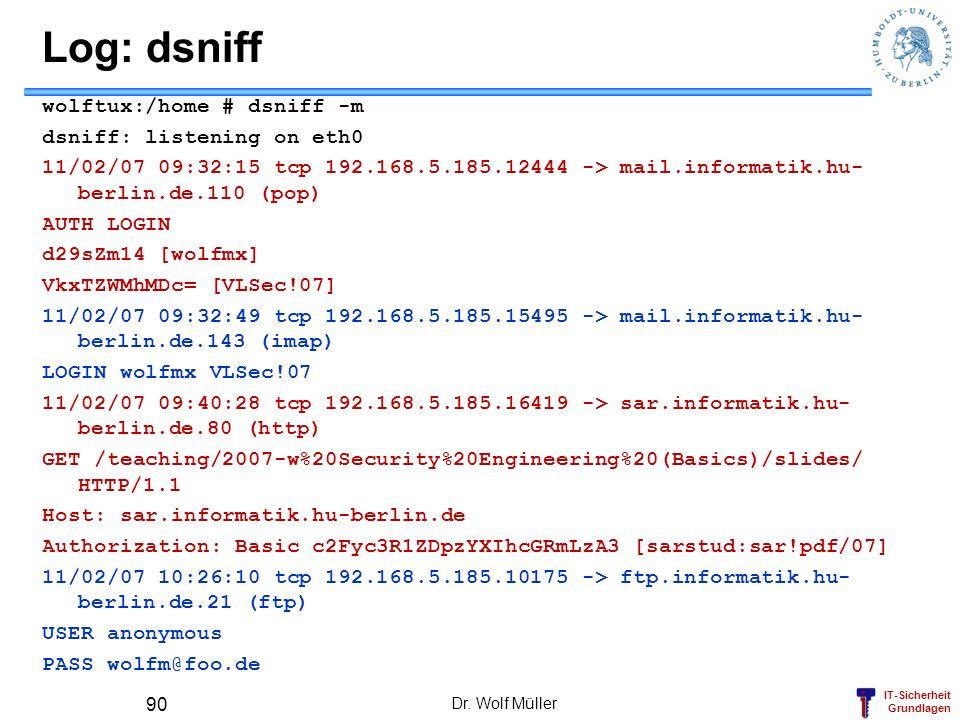 Log: dsniff