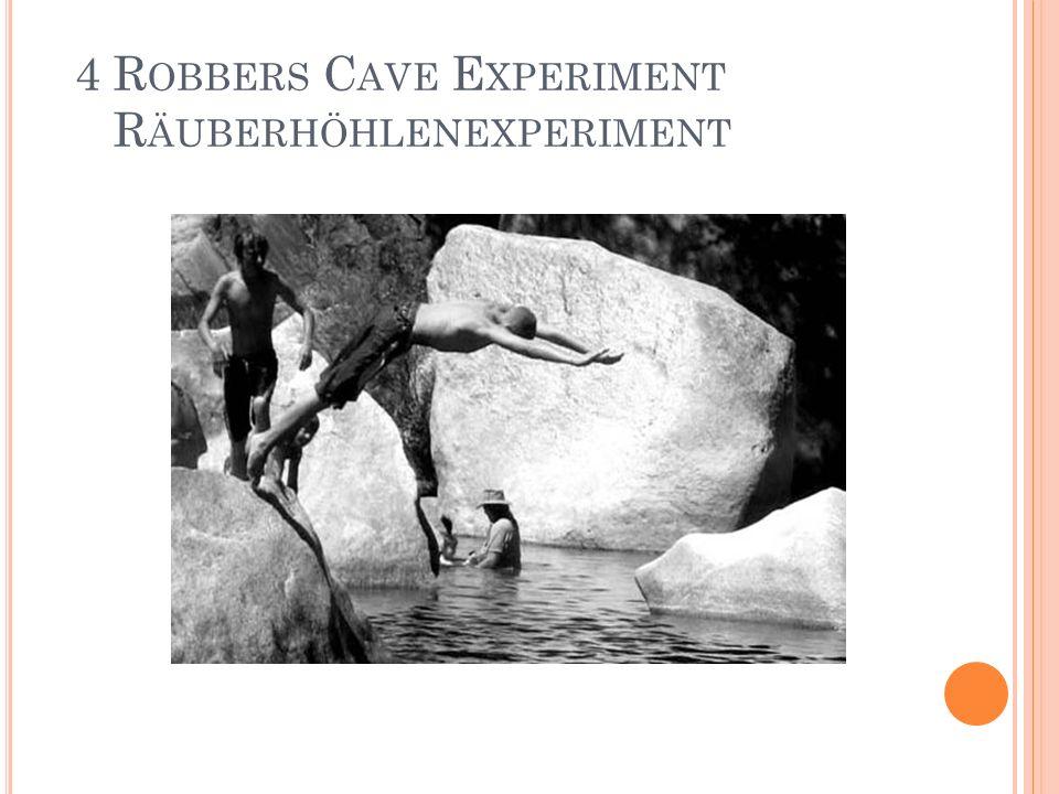 4 Robbers Cave Experiment Räuberhöhlenexperiment