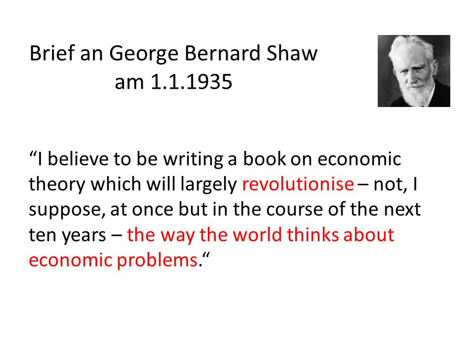 Brief an George Bernard Shaw am 1.1.1935