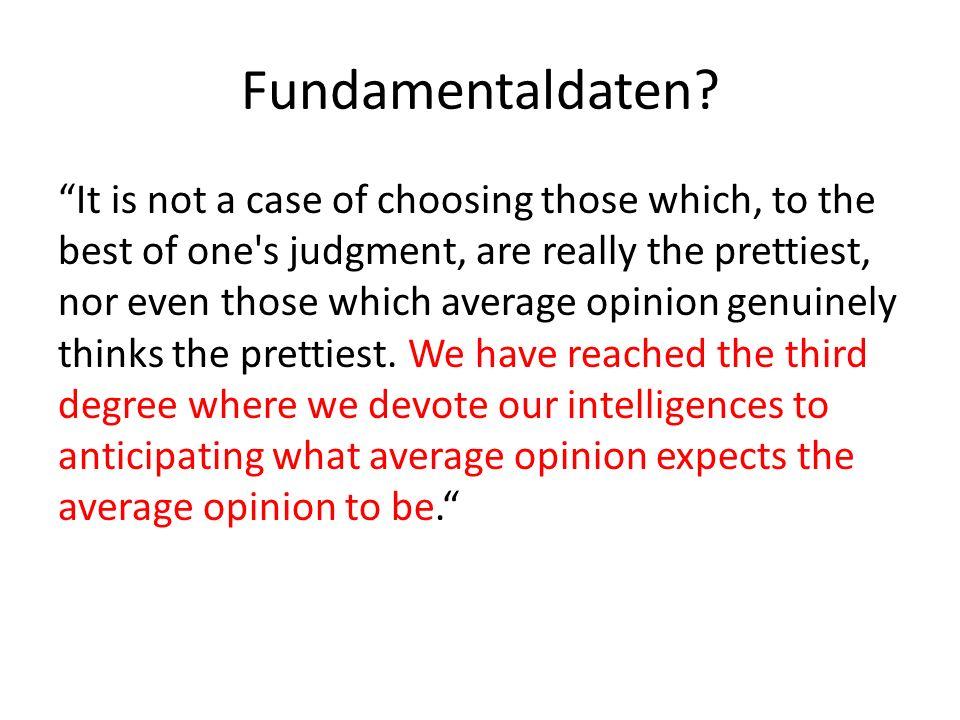 Fundamentaldaten