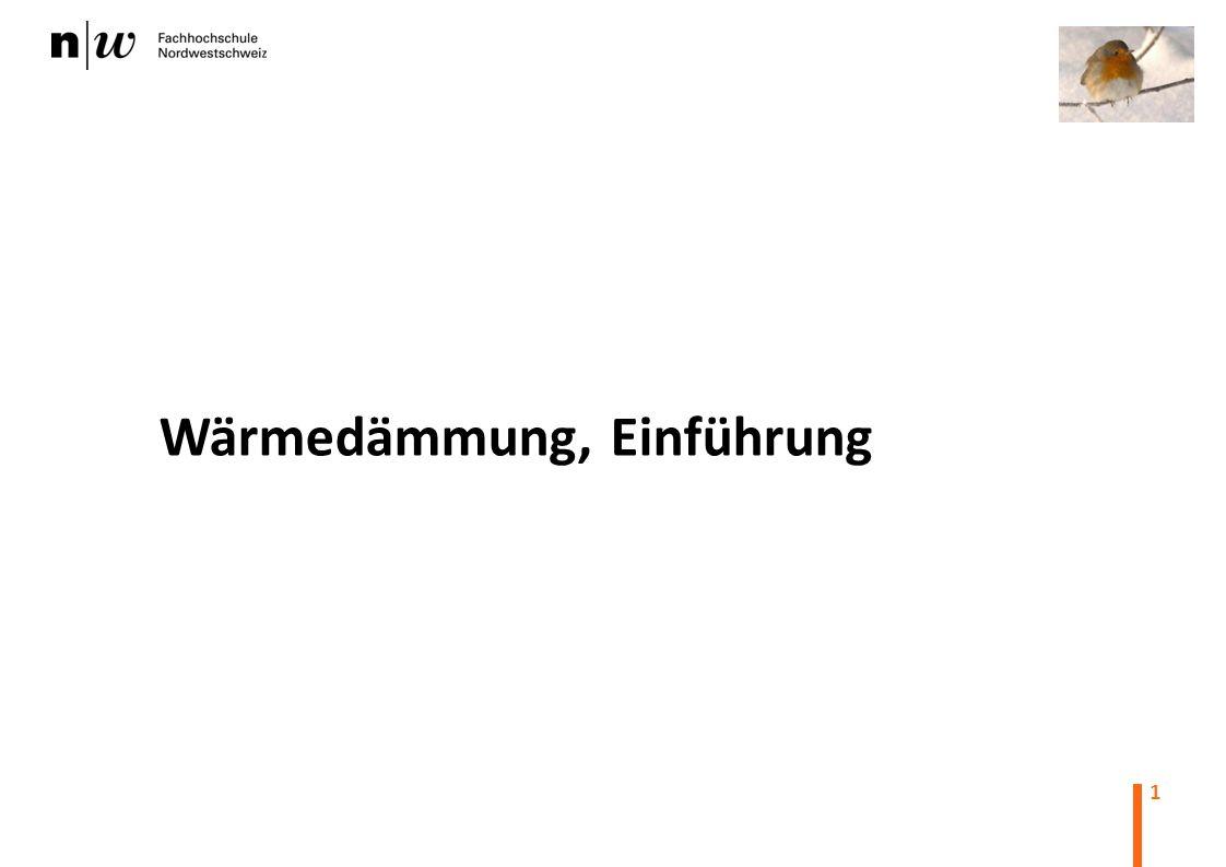 Wärmedämmung, Einführung