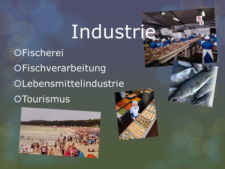 Industrie Fischerei Fischverarbeitung Lebensmittelindustrie Tourismus