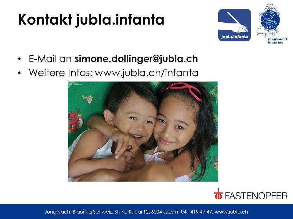 Kontakt jubla.infanta E-Mail an simone.dollinger@jubla.ch