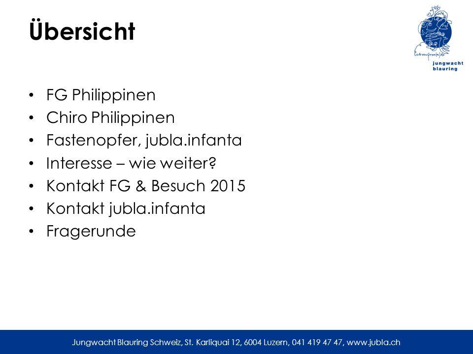 Übersicht FG Philippinen Chiro Philippinen Fastenopfer, jubla.infanta