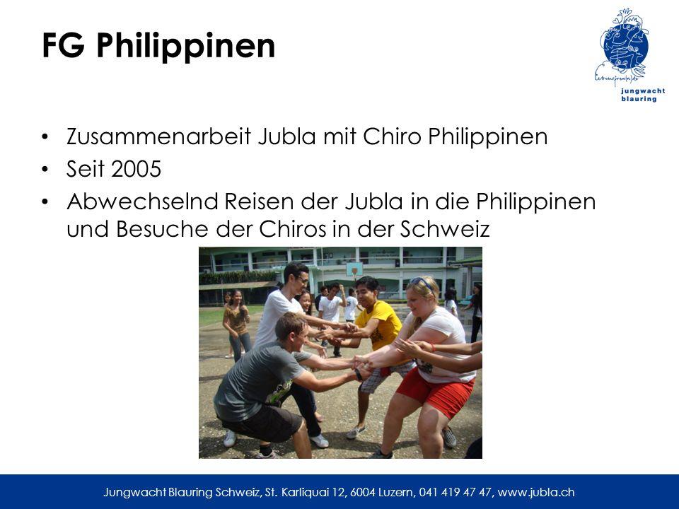 FG Philippinen Zusammenarbeit Jubla mit Chiro Philippinen Seit 2005