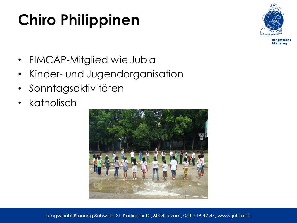 Chiro Philippinen FIMCAP-Mitglied wie Jubla