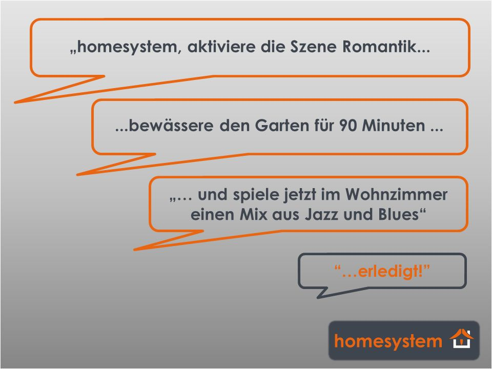 "homesystem ""homesystem, aktiviere die Szene Romantik..."