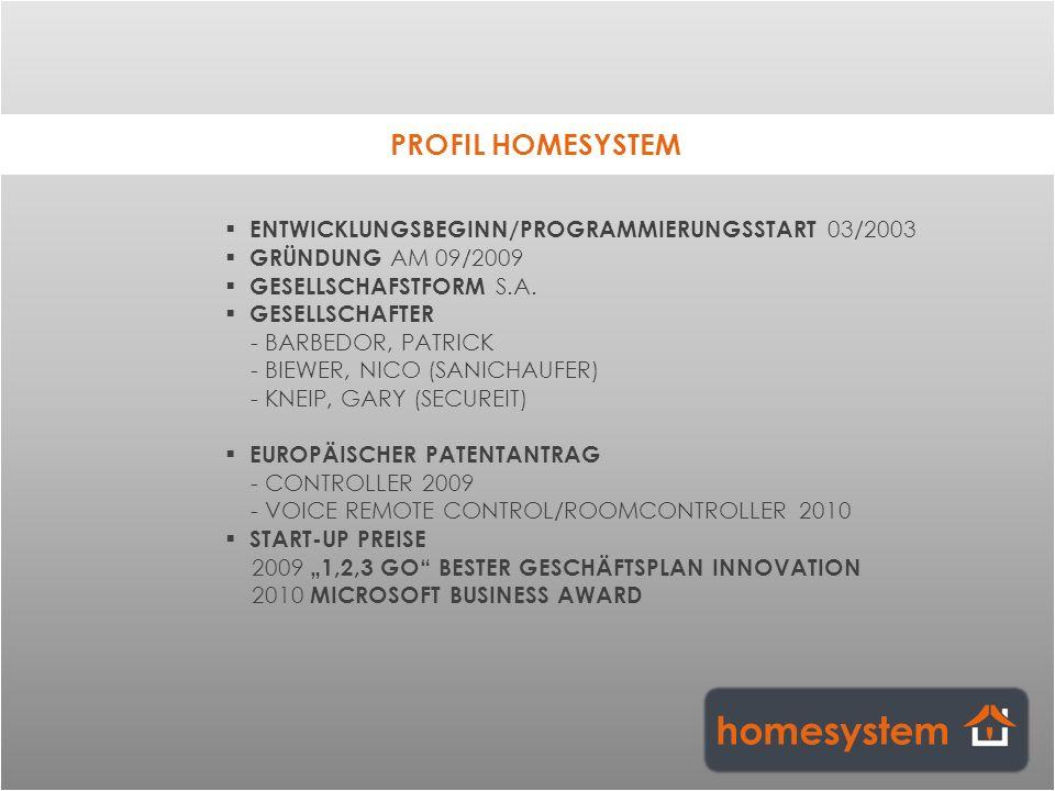 homesystem PROFIL HOMESYSTEM
