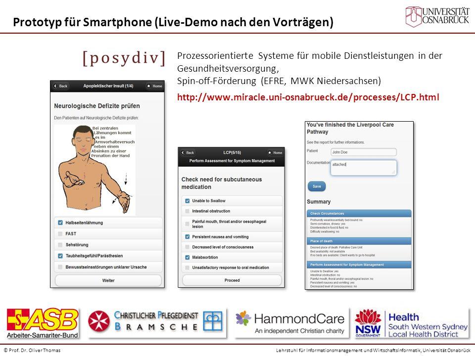 Prototyp für Smartphone (Live-Demo nach den Vorträgen)