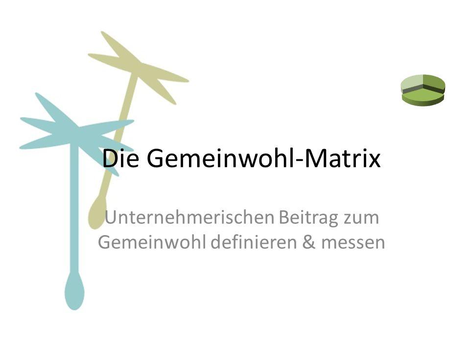 Die Gemeinwohl-Matrix