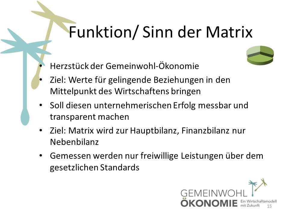 Funktion/ Sinn der Matrix