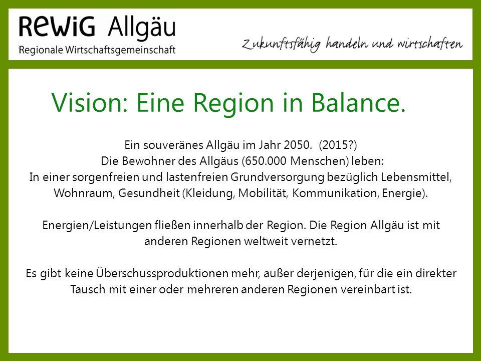 Vision: Eine Region in Balance.