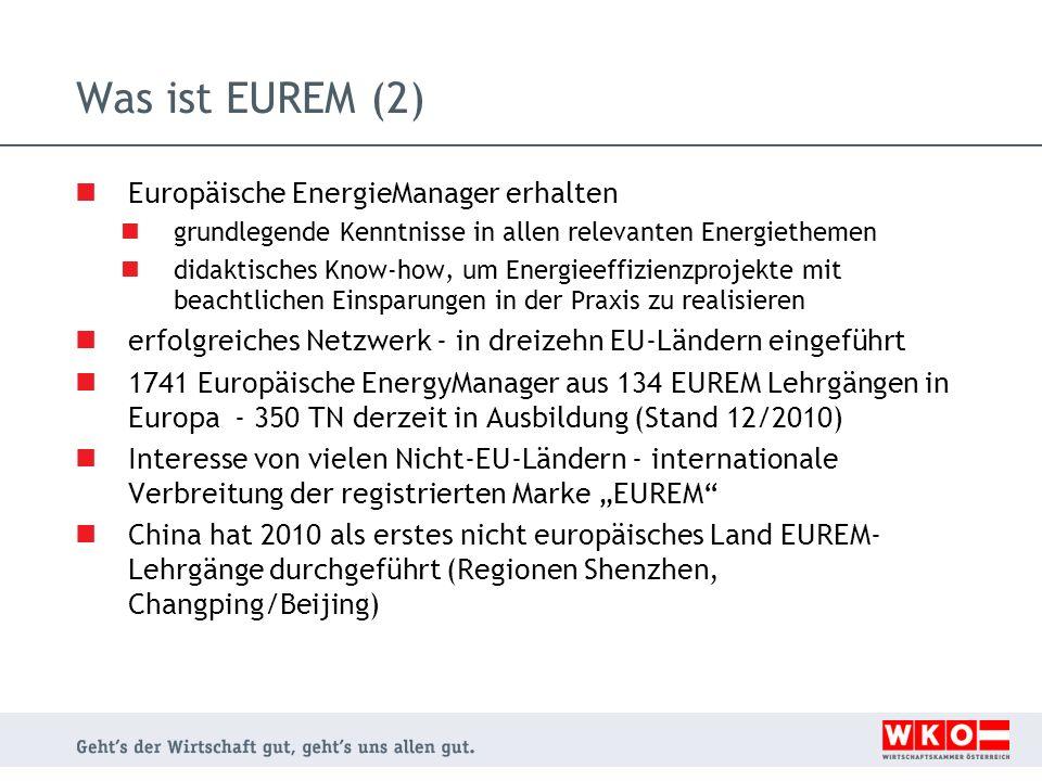 Was ist EUREM (2) Europäische EnergieManager erhalten