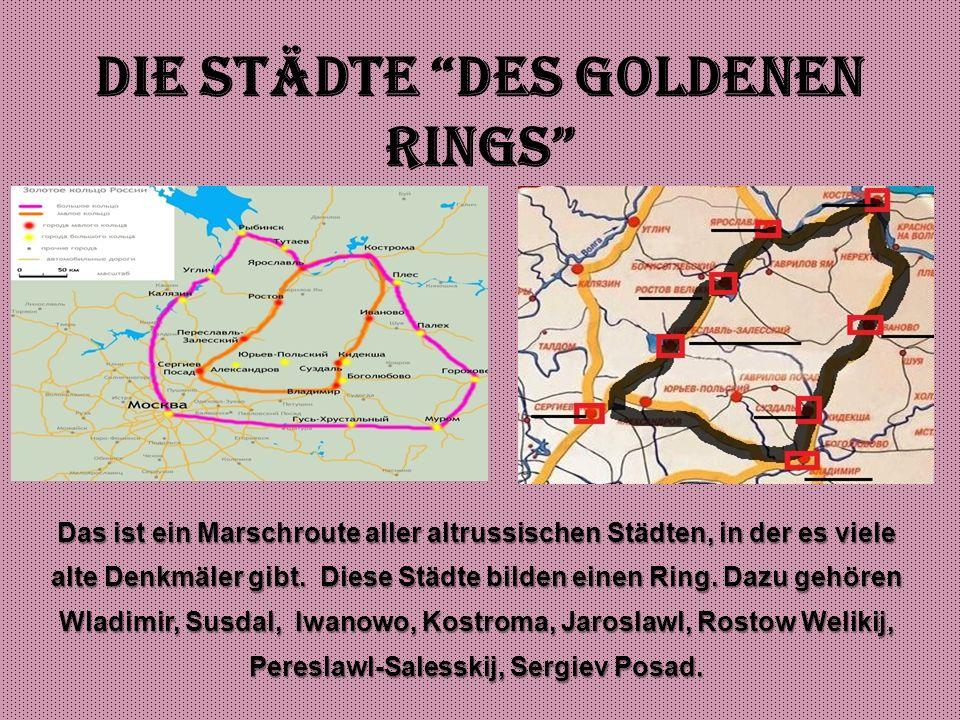 Die Städte des Goldenen Rings