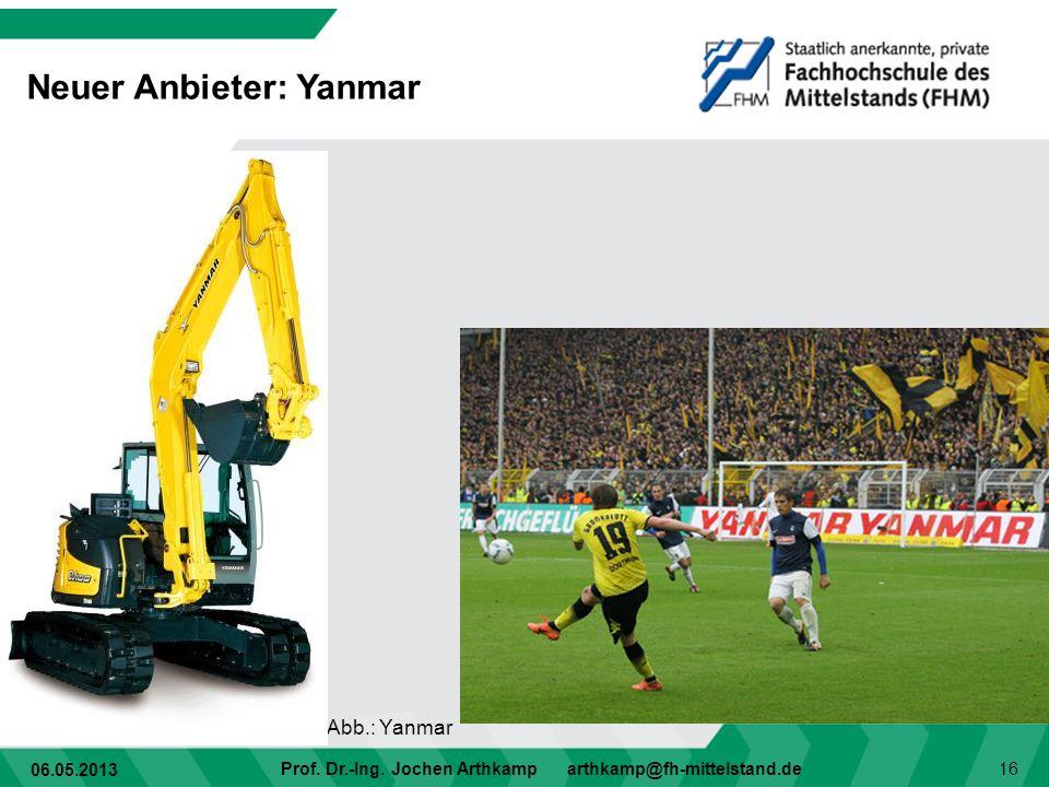 Neuer Anbieter: Yanmar