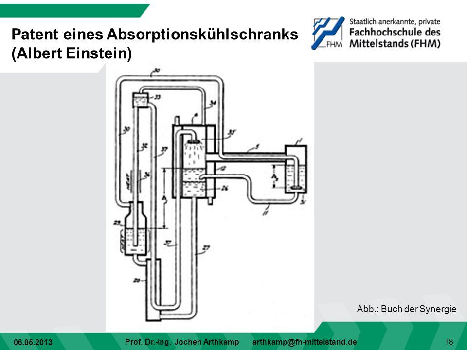 Patent eines Absorptionskühlschranks (Albert Einstein)