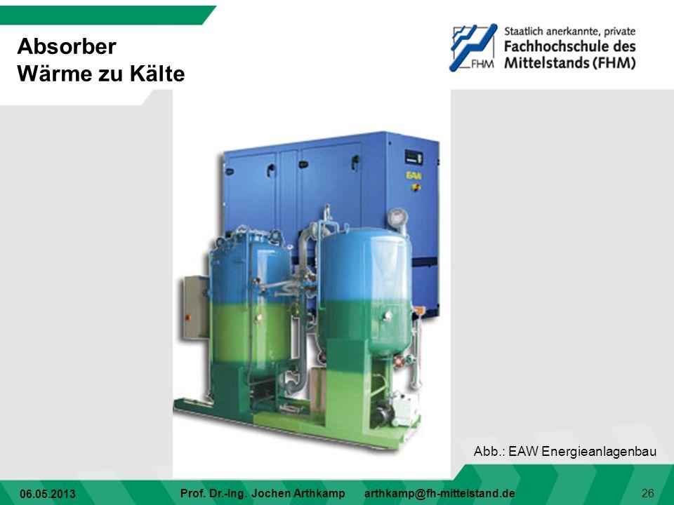 Absorber Wärme zu Kälte Abb.: EAW Energieanlagenbau