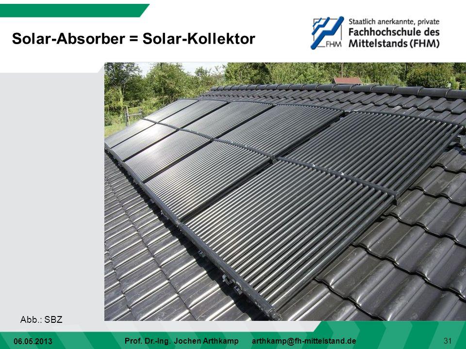 Solar-Absorber = Solar-Kollektor