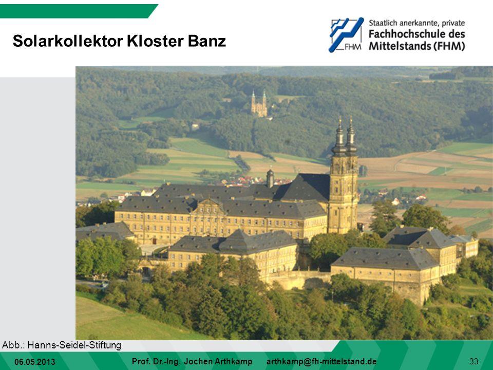 Solarkollektor Kloster Banz