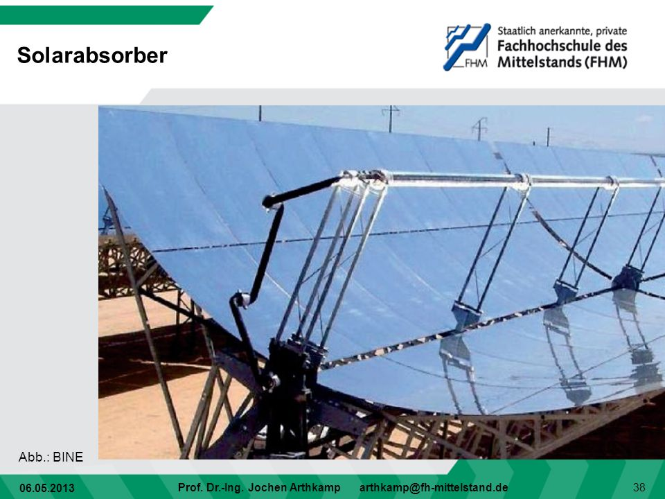 Solarabsorber Abb.: BINE