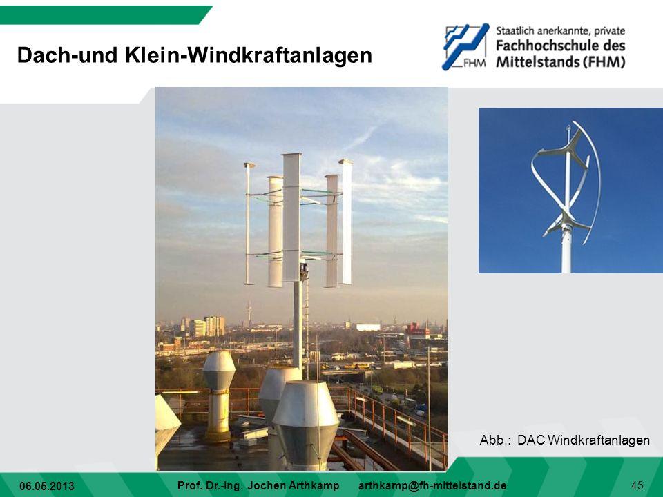 Dach-und Klein-Windkraftanlagen