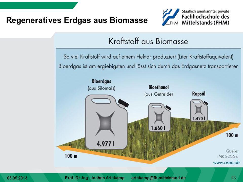 Regeneratives Erdgas aus Biomasse