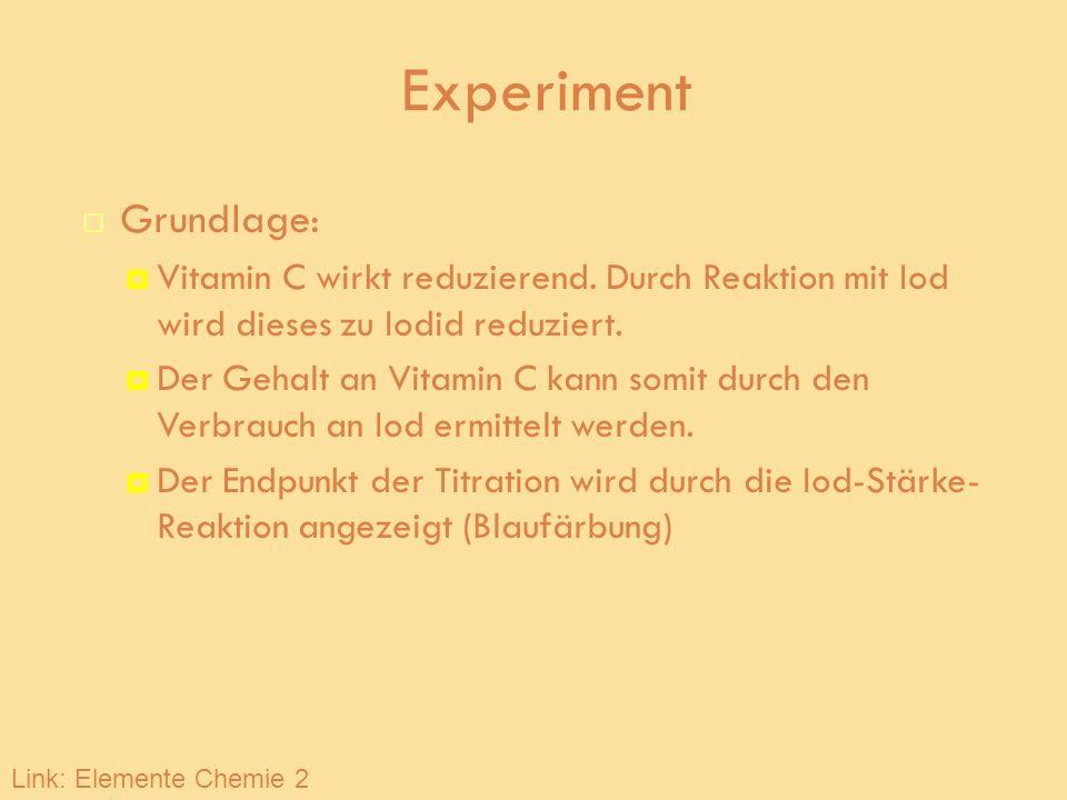 Experiment Grundlage: