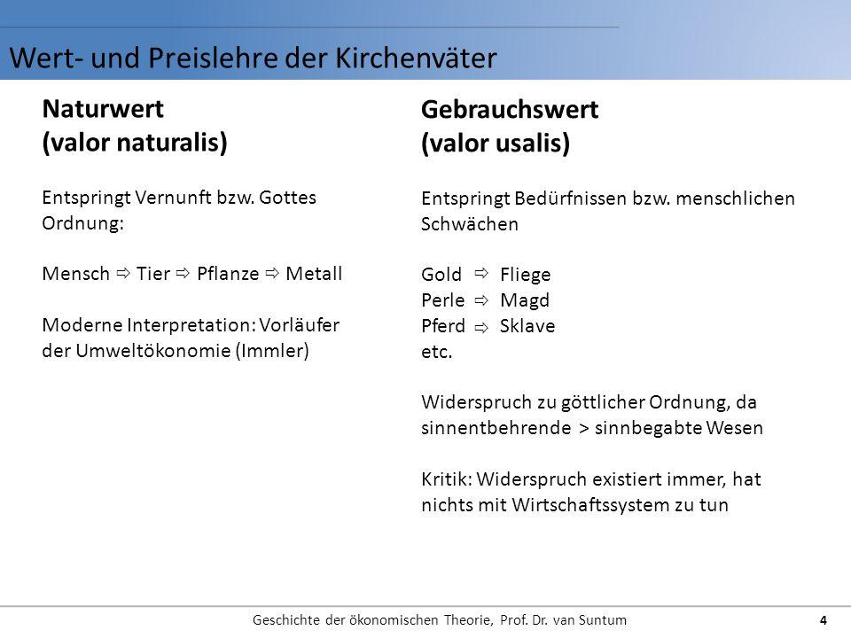 Wert- und Preislehre der Kirchenväter