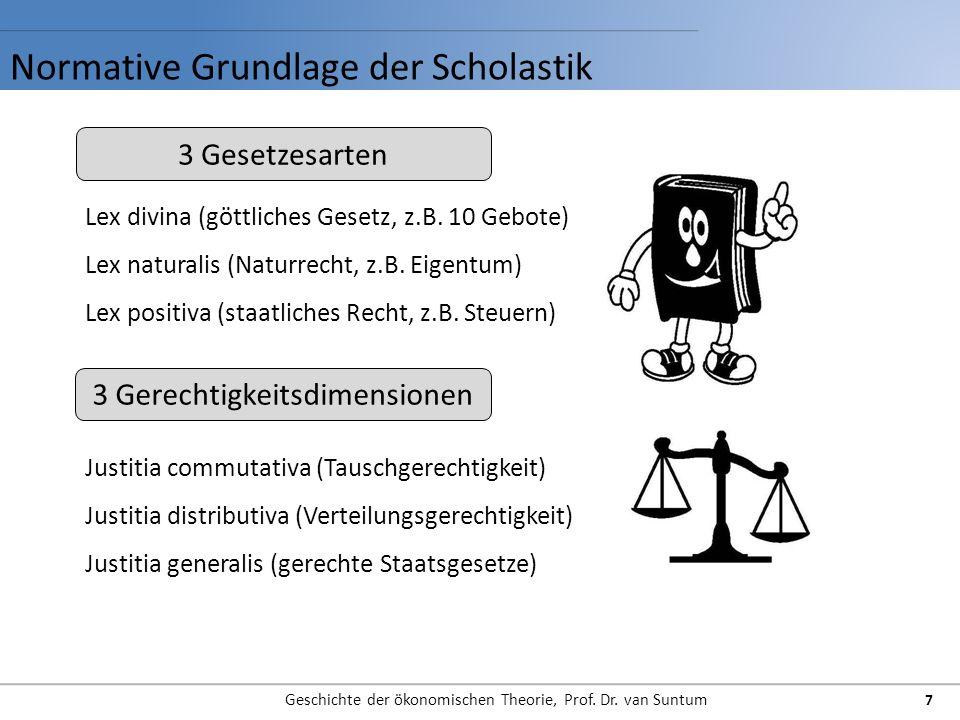 Normative Grundlage der Scholastik