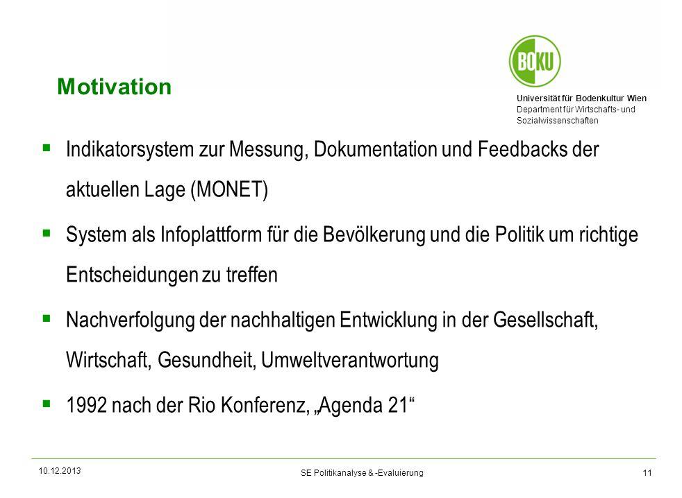 Motivation Indikatorsystem zur Messung, Dokumentation und Feedbacks der aktuellen Lage (MONET)