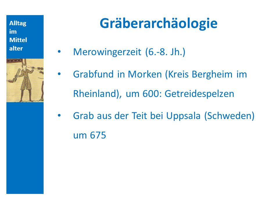 Gräberarchäologie Merowingerzeit (6.-8. Jh.)