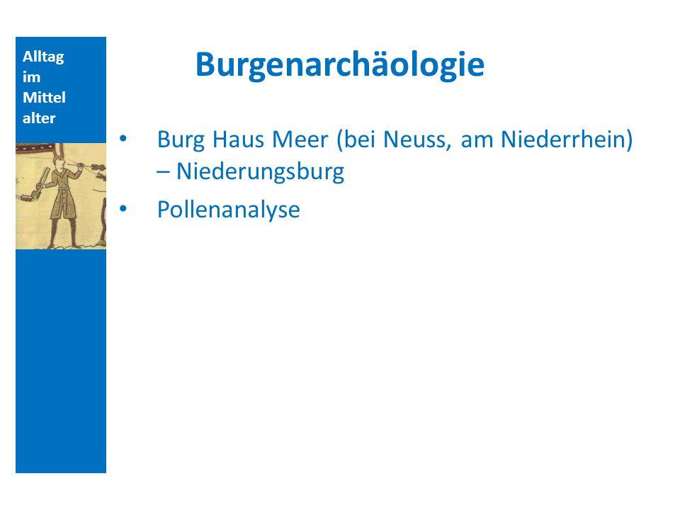 Quellen und Literatur Burgenarchäologie. Alltag. im. Mittelalter. Burg Haus Meer (bei Neuss, am Niederrhein) – Niederungsburg.