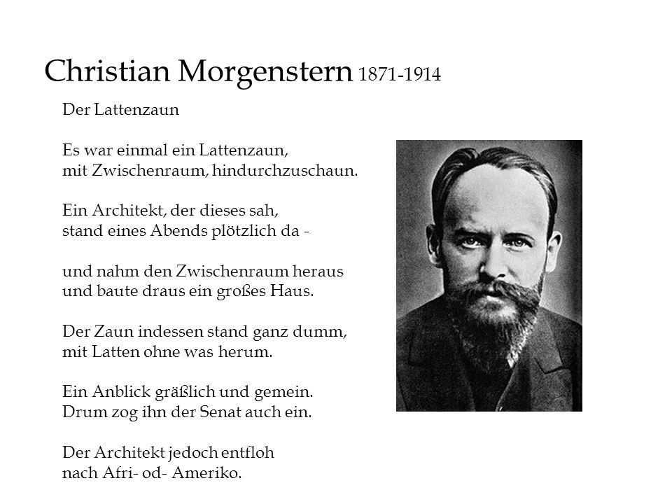 Christian Morgenstern 1871-1914
