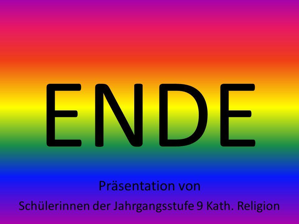 Schülerinnen der Jahrgangsstufe 9 Kath. Religion