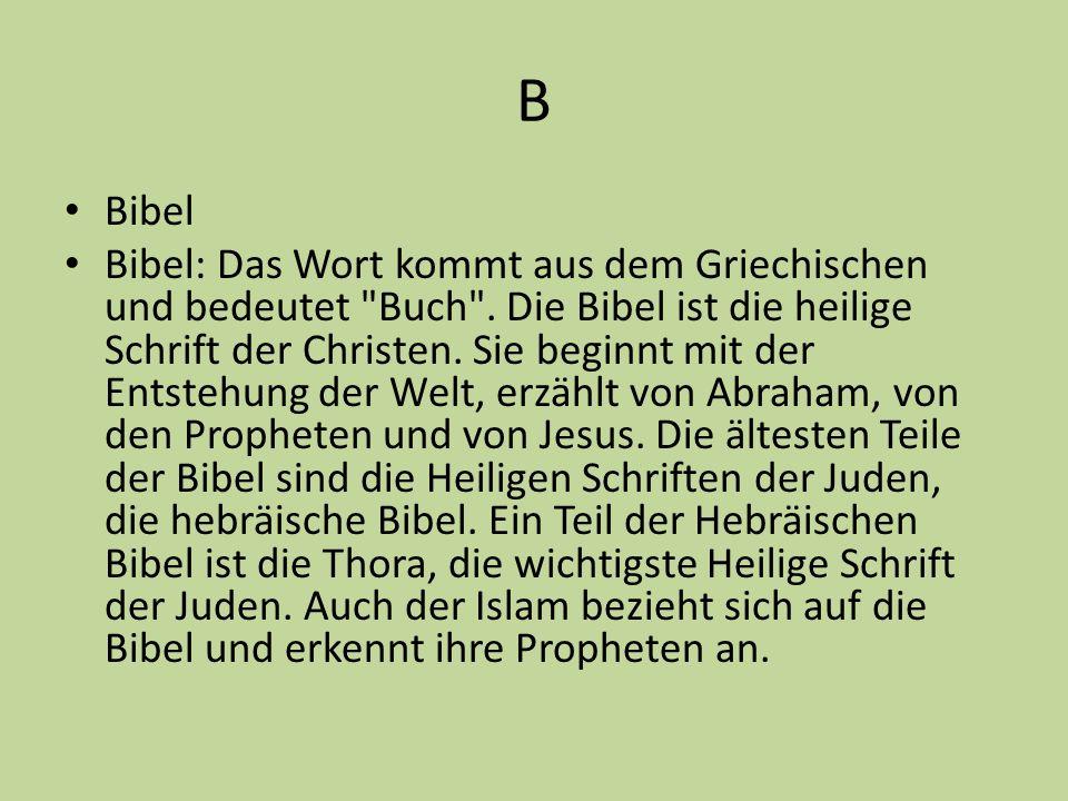 B Bibel.