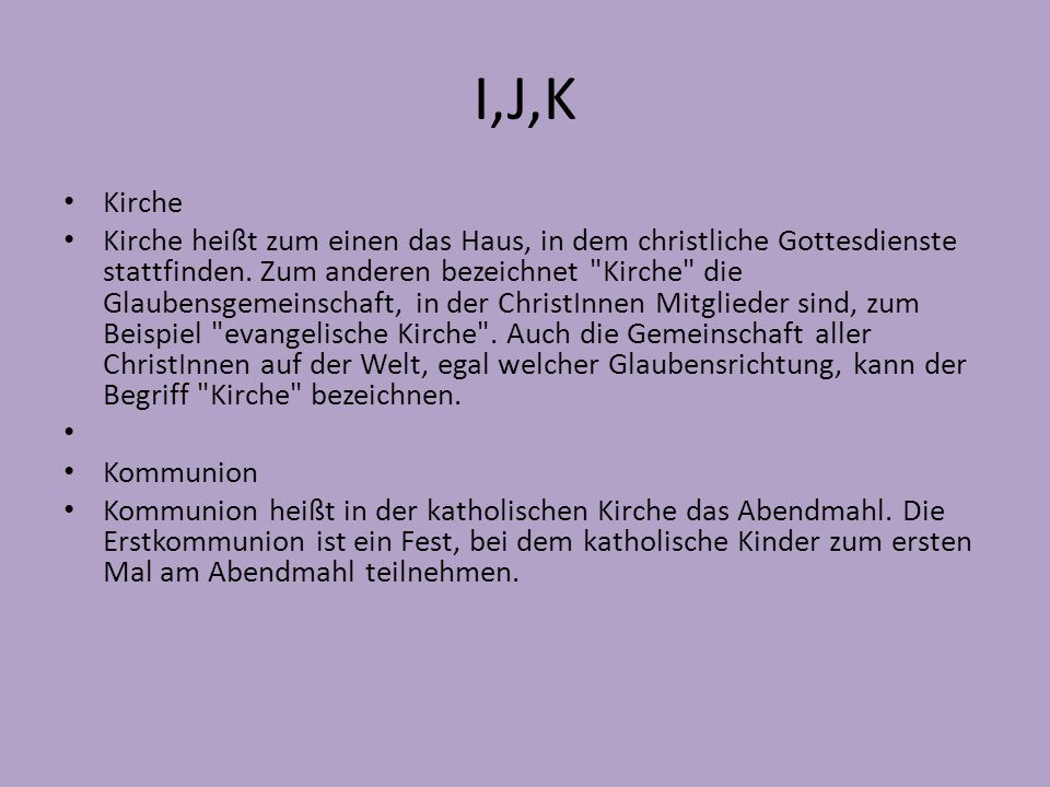 I,J,K Kirche.