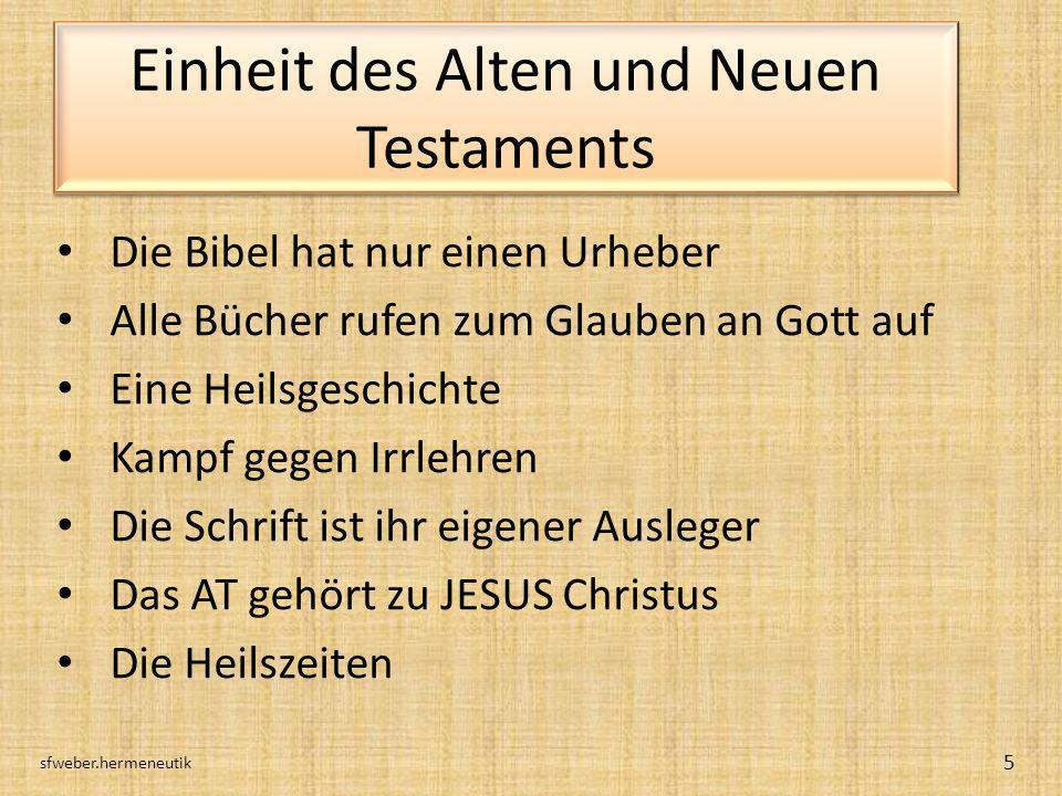 Einheit des Alten und Neuen Testaments